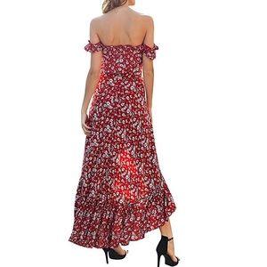 Dresses - Beautiful women off shoulder floral maxi dress
